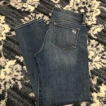 J. Crew Women's Size 27 Skinny Jeans Blue Distressed Stretch Denim Photo