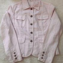 J.crew Womens Soft Blush Pink Cotton/linen Blend Jacket. Size Medium Photo