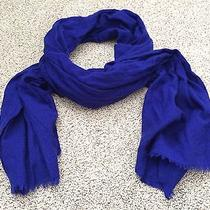 J.crew Women's Solid Purple 100% Wool Scarf Photo