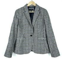 J.crew Womens Campbell Blazer 12 Tweed Wool Houndstooth Fitted Elbow Patches Photo