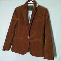 J Crew Womens Campbell Blazer Size 4 Jacket  Corduroy Rustic Brown Euc Photo