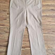 J Crew Womens Campbell Capri Stretch Straight Khaki Pants Sz 12 Nwt  Photo