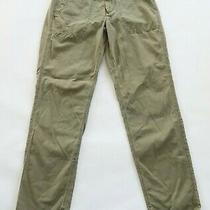 J Crew Womens Cotton Army Green City Fit Slim Straight Khaki Chino Pants Size 8 Photo
