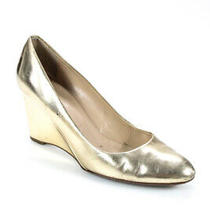 J Crew Womens Metallic Wedges Gold Size 8 Photo