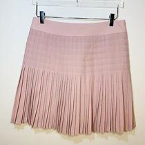 J.crew Womens Pleated Lattice Skirt Dusty Rose Blush Pink Size 4 Photo