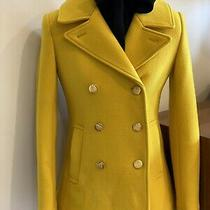 J Crew Yellow Pea Coat Size 0 Photo