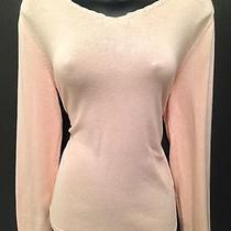J Jill Blush Pink v-Neck Knit Top Shirt Medium Photo