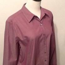 J Jill -Large- Womens Long Sleeve Button Down Dress Shirt-Very Nice Blush Color Photo