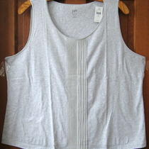 J.jill Silk-Trimmed   Tank   4x   Nwt   55     Light Grey Heather Photo