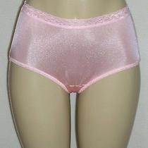 J New Hanes Blush Peach Nylon Modern Brief Panty Comfort Lace Waist  34w 9/1x Photo