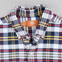 J. Press for Urban Outfitters Blue Red Yellow White Plaid Oxford Shirt - Men's S Photo