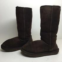 J Womens Ugg Australia Winter Suede Dark Brown Boots Size Photo