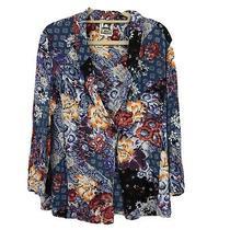 Jaase Womens Sz S Small Collage Rosella Blazer Jacket Boho Anthropologie Floral Photo