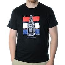 Jack Daniel's Tennessee Whiskey Red White Blue Usa Black Mens T-Shirt Size Xl  Photo