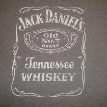 Jack Daniels Old no.7 Brand Tennessee Whiskey Grey 50/50 Graphic Print Tshirt Xl Photo