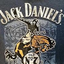 Jack Daniels Tee Xl Blue Short Sleeve Jack Lives Here  Photo