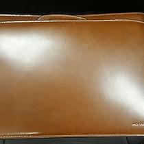 Jack Georges Elements Collection Double Gusset Top Zip Leather Briefcase Photo