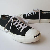 Jack Purcell Converse  Black Canvas Low Top Sneaker Shoes  7 Photo