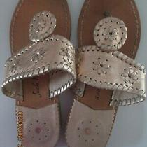 Jack Rogers Size 5 Womens Size 3 Girls Rose Gold Leather Navajo Sandals Photo