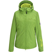 Jack Wolfskin Women Mapiya Waterproof Outdoor Jacket Purple Gray Green Photo