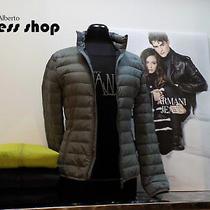 Jacket Armani Jeans Woman Down 100 gr.05b44hs Colour Grey Blue Green Black Photo