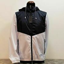 Jacket Bomber Jacket Hood Armani Exchange Man 3gzb18 Znebz Blue White Photo