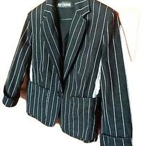 Jacket Denim Striped Black & White Size M Photo