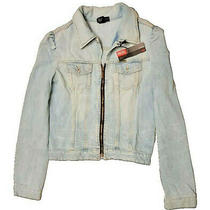 Jacket Diesel Orginal Woman Jacket Denim Blue Jeans Lightest Size L Photo