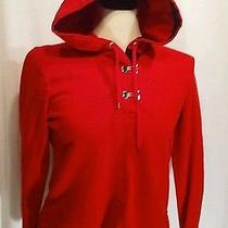 Jacket Ralph Lauren Hoodie P/s Gold Clasps Red Hood Photo