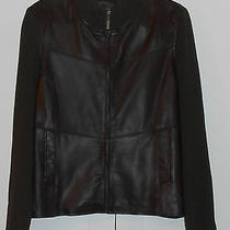 Jaclyn Smith Brown Lamb Skin Leather and Knit Jacket - 18 Photo