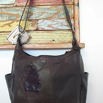 Jaclyn Smith Leather Patchwork Hobo Handbag Purse Euc Photo