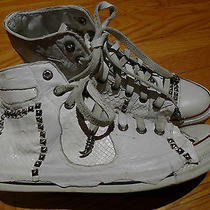 Jaded by Knight Converse Python - Sterling Silver - Leather Wrapped - Sz 10 Us Photo
