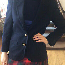 Jaegar Luxury Navy Blue Cashmere Wool Blazer Jacket Peacoat Excellent Photo
