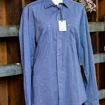 James Campbell Denim Button Up Long Sleeve Shirt New // Mtw Clothing Photo