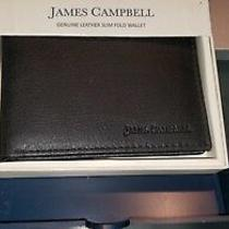 James Campbell Genuine Leather Slim Bifold Wallet Leath New in Box 58 Photo