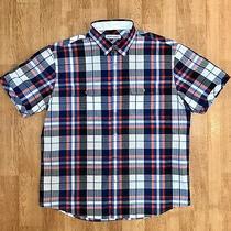 James Campbell Men's Xl Casual Button Short Sleeve Cotton Pockets Shirt X Large  Photo