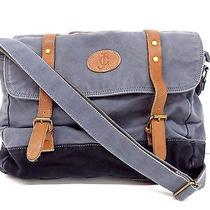 James Campbell Mens Messenger Travel College Shoulder Bag Gray and Black Photo