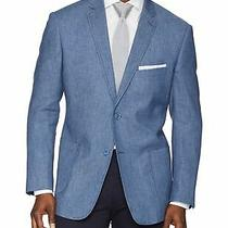 James Campbell Mens Sport Coat Blue Size Medium M Boucle Two Button 148 764 Photo