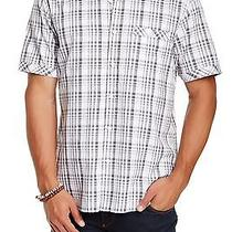 James Campbell New Black Mens Size Small S Plaid Button Down Shirt 79 187 Deal Photo