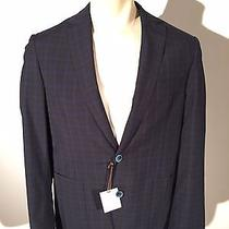 James Campbell R-Sunbury Mens 40r Navy Sport Coat New 495.00 Photo