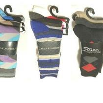James Campbell Striped Socks 3 Pairs/pk Shoe Size7-12 Sock Size10-13 Photo