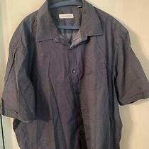 James Campbell Xxl Camp Shirt. Blue With Small White Dot Design Photo
