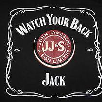 Jamison Whiskey Watch Your Back Jack T-Shirt (2xl) Black Photo