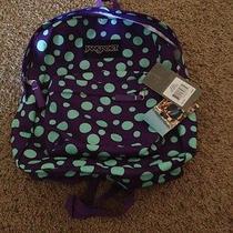 Jan Sport Spring Break Purple Polkadot Backpack Photo