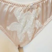 Jane Woolrich Silk/lace Brief in Blush Pink Size 10 Small Rrp 90 Code2042 Photo