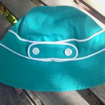 Janie and Jack Baby Sun Hat Toddler Girl Hat Aqua Blue Turquoise Excellent Photo