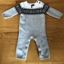 Janie and Jack Boys One Piece Gray Sweater Outfit Burtons Size 6-12 Months Photo