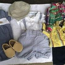 Janie and Jack Burberry Raph Lauren Baby Boy 0-3m Lot Cothing & Shoes & Hat Photo