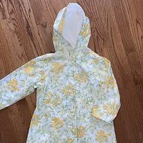 Janie and Jack Euc Sz 4t/4 in Bloom Yellow Tulip Raincoat Jacket Photo