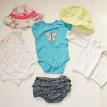 Janie and Jack  Gap Lot - 2 One Pieces/bloomers/cardigan/2 Hats 0-3-6 M Euc/guc Photo